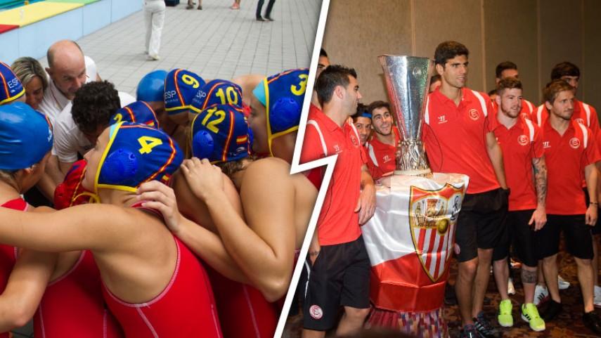 El Sevilla y la Federación de Natación, agradecidos con la LFP