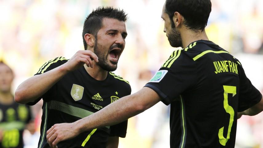 Iniesta y Villa, hombres récord de España