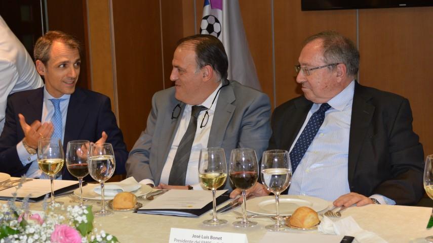 El Foro de Marcas Renombradas Españolas, reunido en la sede de la LFP