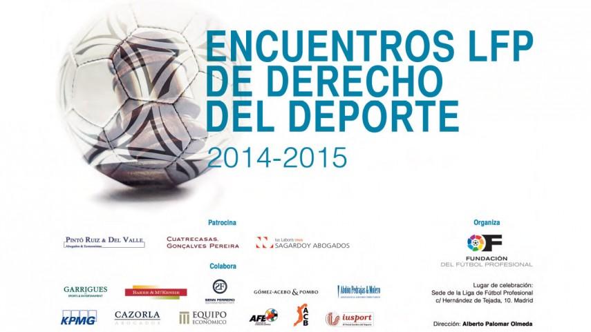 Inscripción para los encuentros LFP de Derecho del Deporte 2014/15