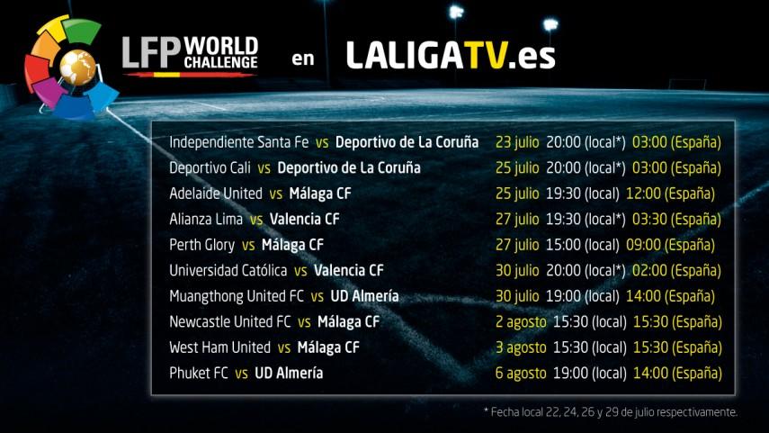 Horarios de La Liga TV en la Gira LFP World Challenge