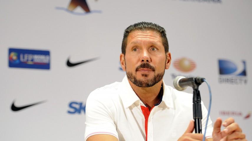 Simeone, satisfecho con el trabajo del Atlético