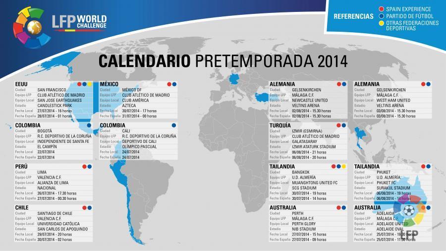 Calendario Liga Segunda.Calendario De La Segunda Gira Del Acontecimiento Lfp World Challenge