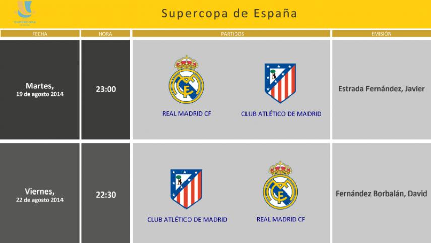 Árbitros para la Supercopa de España