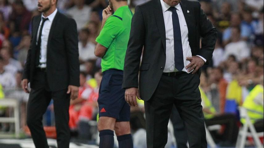 'Zona mixta' con Ancelotti, Simeone, James y Raúl García