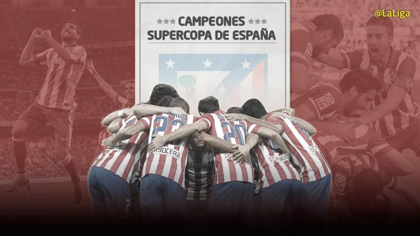 El Atlético levanta su segunda Supercopa de España