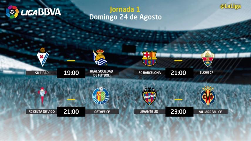 Liga BBVA – Previas de los partidos del domingo