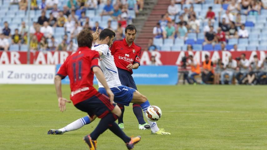 Osasuna rescata un empate en La Romareda