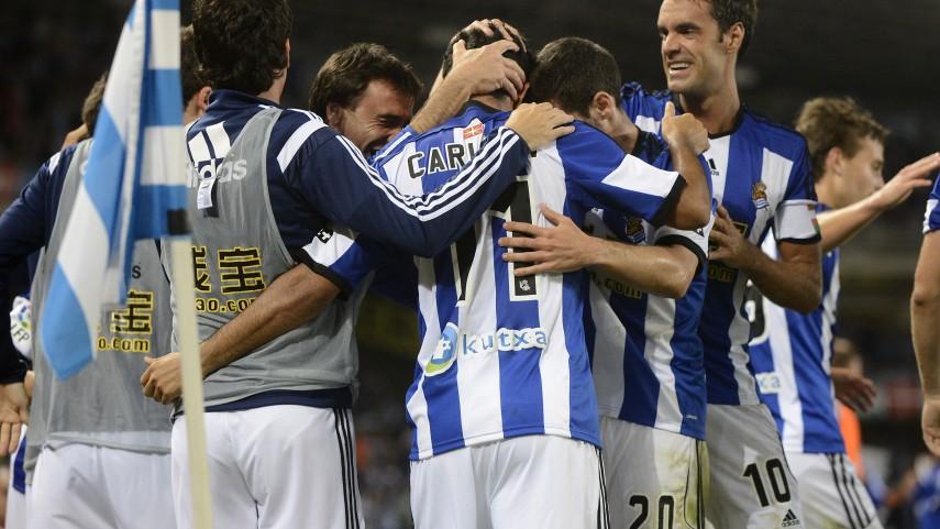 La Real remonta brillantemente al Madrid
