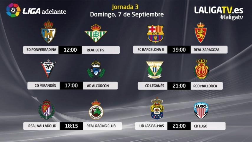 Este domingo el fútbol lo pone la Liga Adelante
