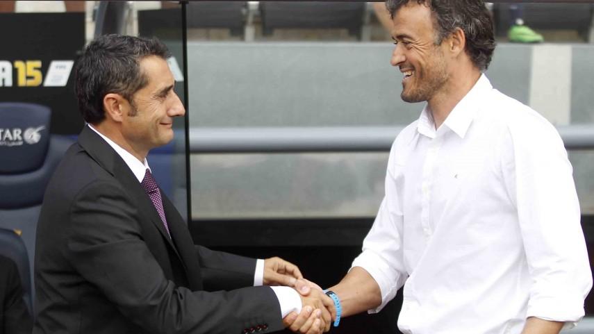 Valverde y Luis Enrique analizan la Supercopa de España