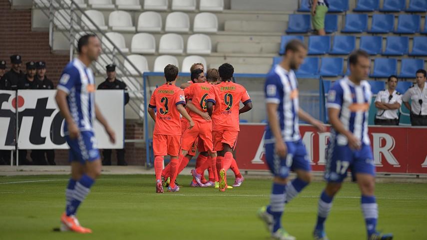 El Barcelona B se lleva un partido frenético