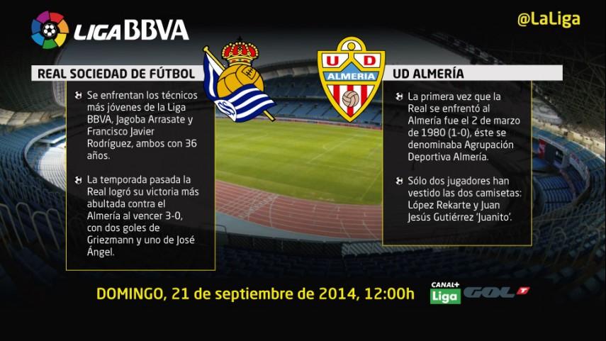 El Almería busca su primer triunfo ante una ambiciosa Real