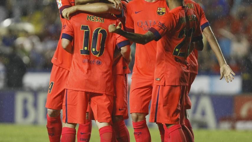 Goleada y pleno para el Barcelona