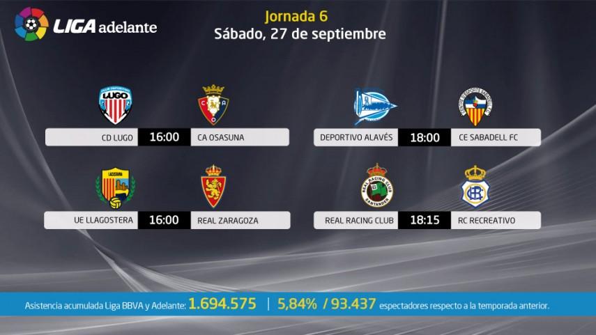 Cuatro partidos abren la jornada de la Liga Adelante