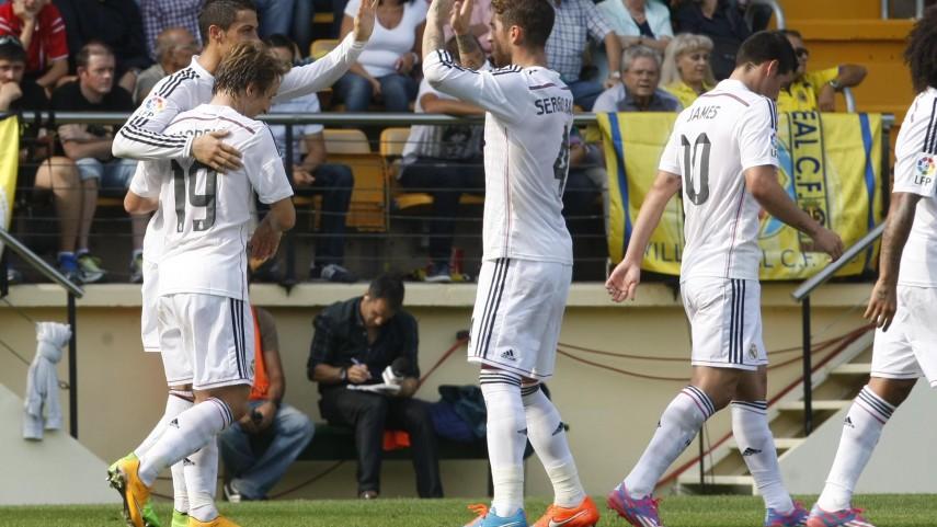 Modrić y Ronaldo lideran la victoria blanca en El Madrigal