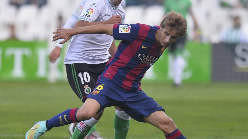 El Racing no encuentra el gol ante el Barcelona B