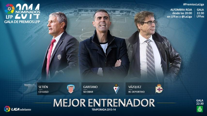 Nominados al premio 'Mejor Entrenador de la Liga Adelante 2013-14'