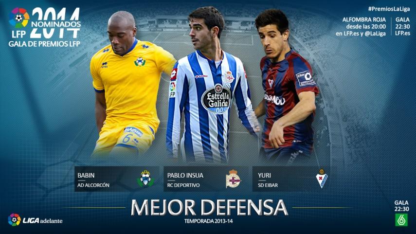 Nominados al premio 'Mejor Defensa de la Liga Adelante 2013-14'