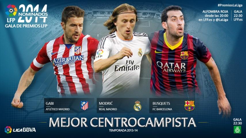 Nominados al premio 'Mejor Centrocampista de la Liga BBVA 2013-14'
