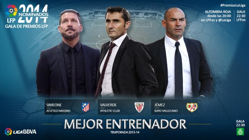 Nominados al premio 'Mejor Entrenador de la Liga BBVA 2013-14'