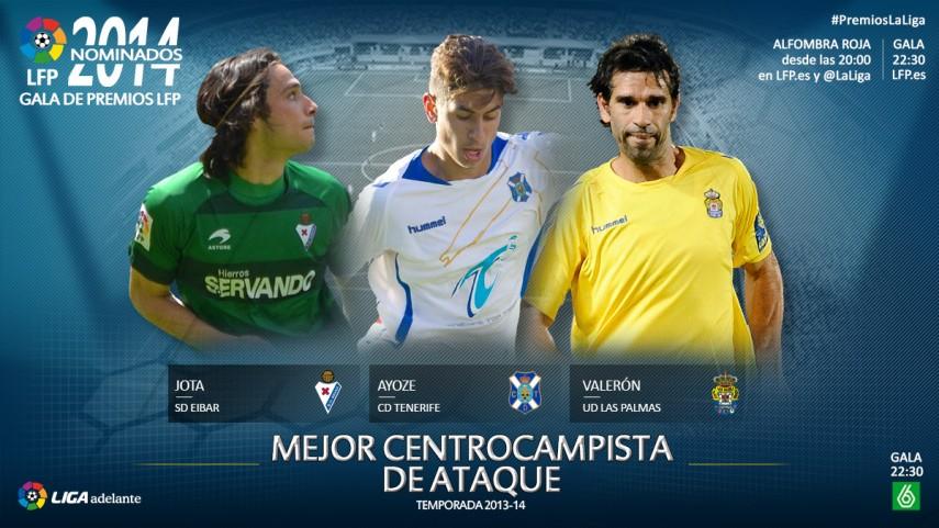 Nominados al premio 'Mejor Centrocampista de Ataque de la Liga Adelante 2013-14'