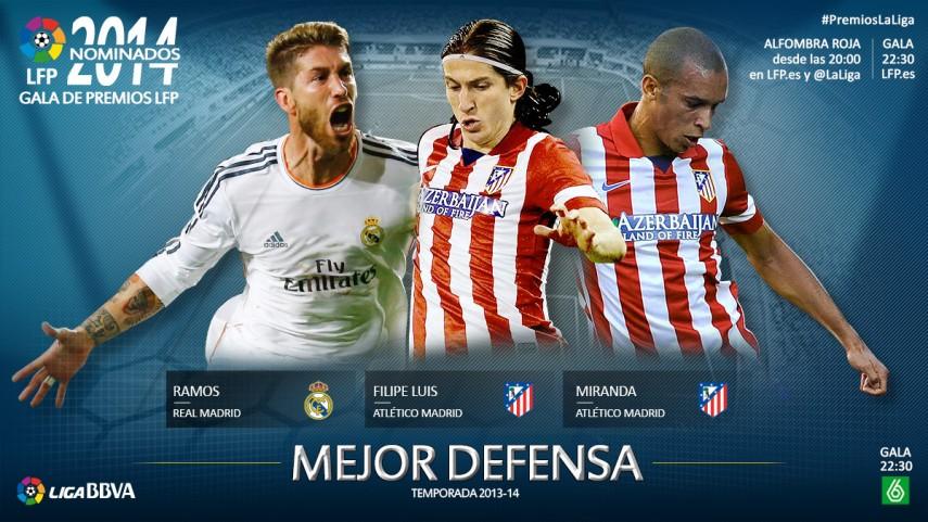 Nominados al premio 'Mejor Defensa de la Liga BBVA 2013-14'