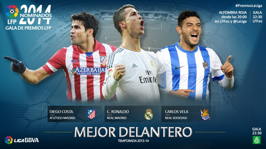 Nominees for the 'Best Striker in the 2013-14 Liga BBVA' Award
