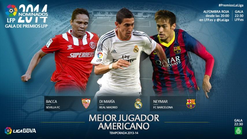 Nominados al premio 'Mejor Jugador Americano de la Liga BBVA 2013-14'