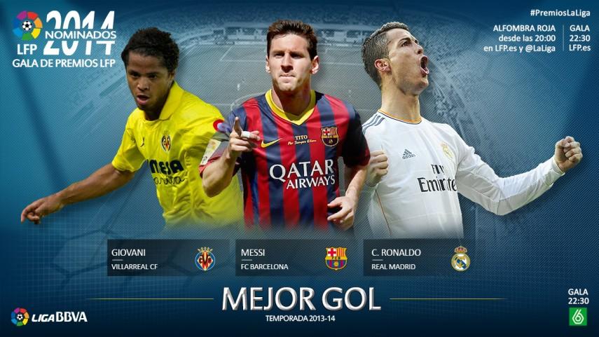 Nominados al premio 'Mejor Gol de la Liga BBVA 2013-14'