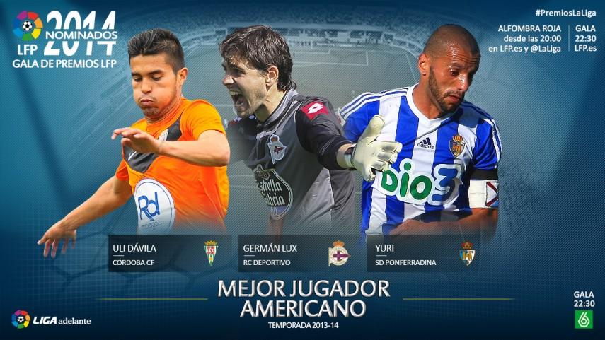 Nominados al 'Mejor Jugador Americano de la Liga Adelante 2013-14'