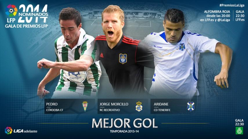 Nominados al premio 'Mejor Gol de la Liga Adelante 2013-14'.