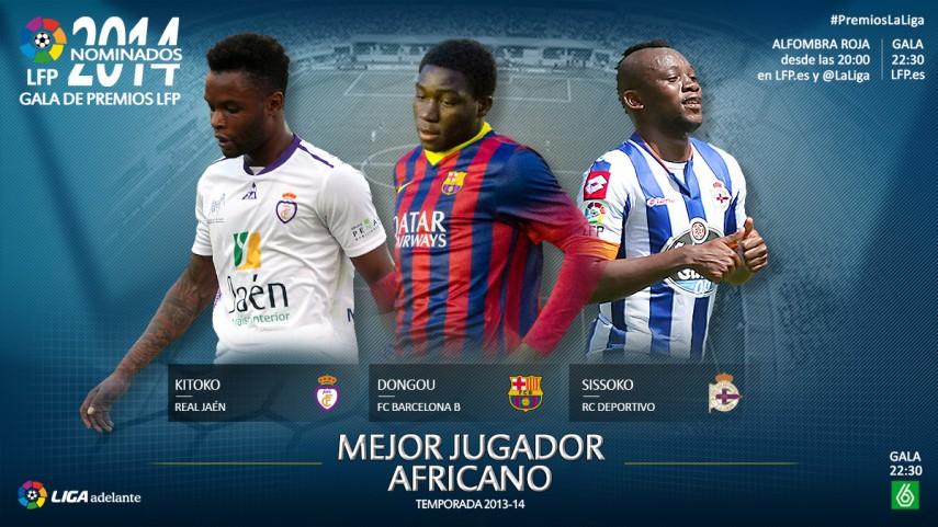 Nominados al premio 'Mejor Jugador Africano de la Liga Adelante 2013-14'
