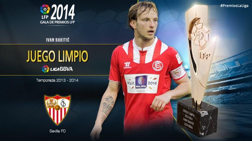Ivan Rakitić, premio al 'Jugador Juego Limpio Liga BBVA 2013-14'