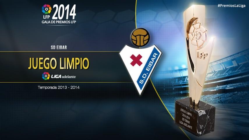 Eibar, premio al 'Club Juego Limpio Liga Adelante 2013-14'