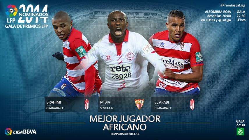 Nominados al premio 'Mejor Jugador Africano de la Liga BBVA 2013-14'