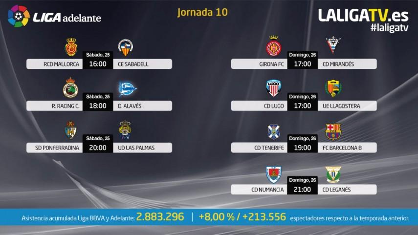 La décima jornada se vive en la Liga TV