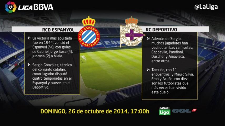 El Espanyol mide la mejoría del Deportivo