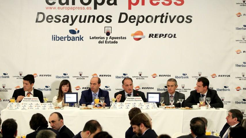 Javier Tebas participó en los 'Desayunos Deportivos de Europa Press'