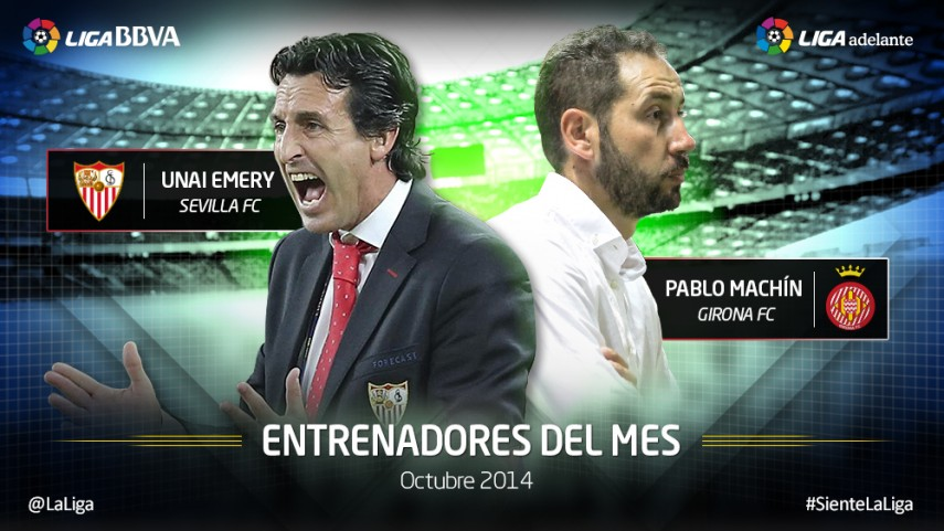 Unai Emery y Pablo Machín, mejores técnicos de octubre