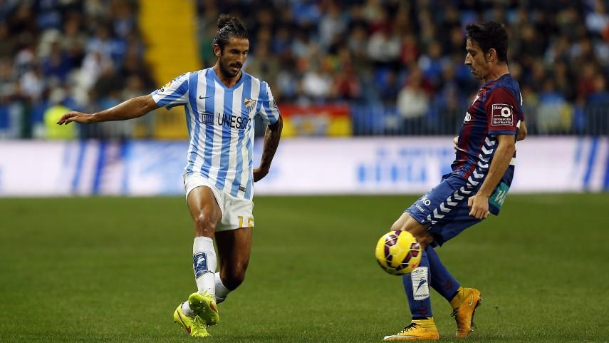 El Málaga no baja el ritmo ante el Eibar