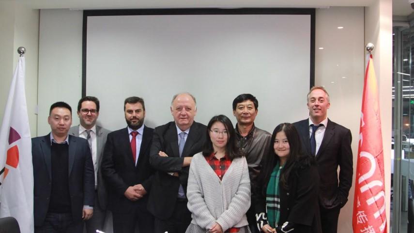 El Villarreal CF visita las oficinas de la LFP en China
