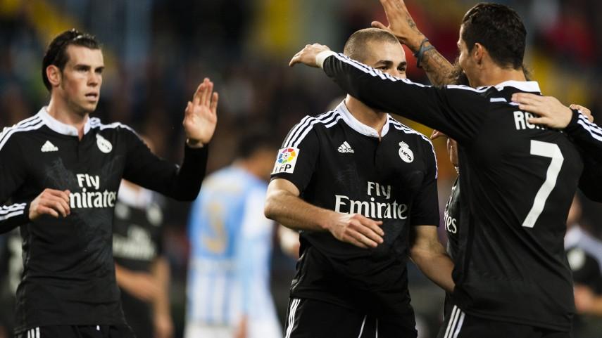Un Real Madrid de récord vence al Málaga