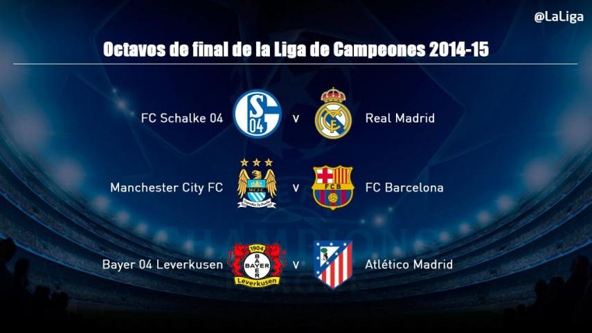 Conoce a los rivales de los españoles en octavos de Champions League