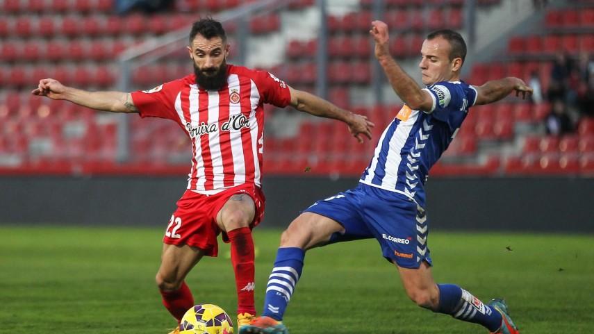 El Girona sigue peleado con la victoria