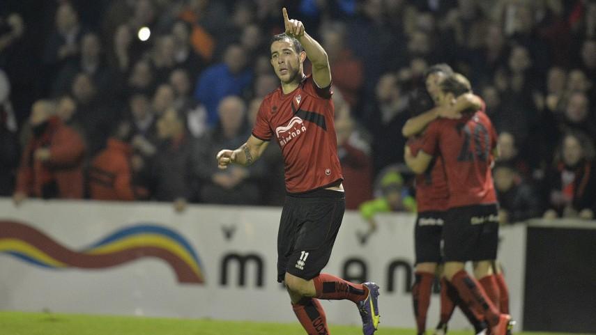Urko Vera, año de goles y alegrías con el CD Mirandés