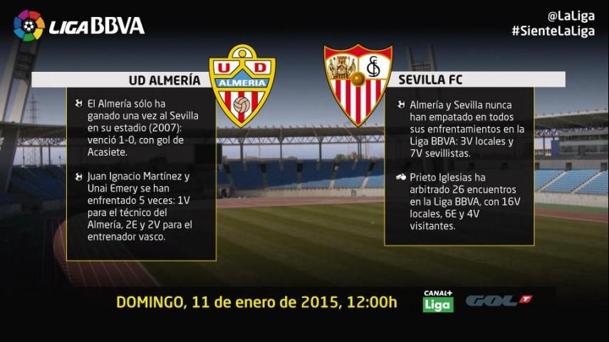 El Almería quiere extender su racha ante el Sevilla