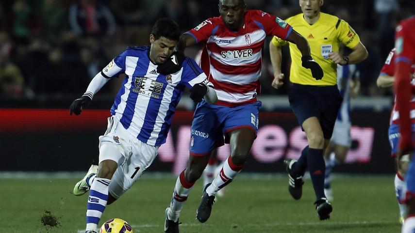 Dos penaltis ponen las tablas entre Granada y Real Sociedad