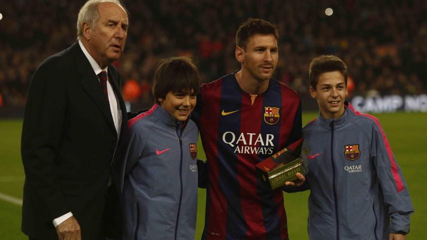 Messi recibió el Trofeo LFP al máximo goleador de la historia de la Liga