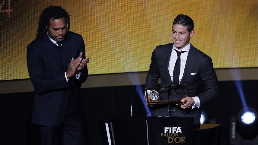 James Rodríguez, ganador del 'Premio Puskás al mejor gol de 2014'